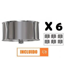 TAPÓN CON PURGA125 MM INOX...