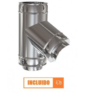 TE 60º DOBLE PARED INOX 304...