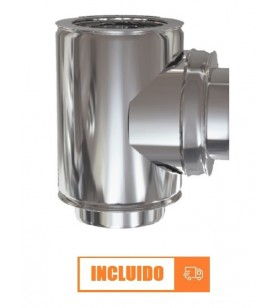 TE 90º DOBLE PARED INOX 304...