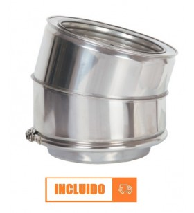 CODO 15º DOBLE PARED INOX...