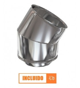 CODO 45º DOBLE PARED INOX...