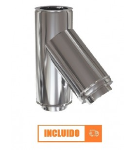 TE 45º DOBLE PARED INOX 304...